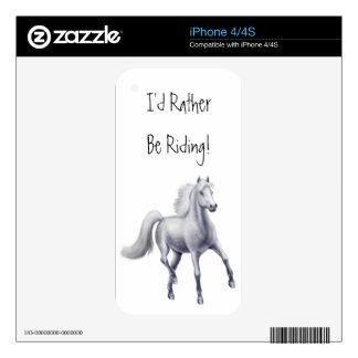 Caballo gris Dappled el trotar Zazzle SK del Calcomanías Para El iPhone 4