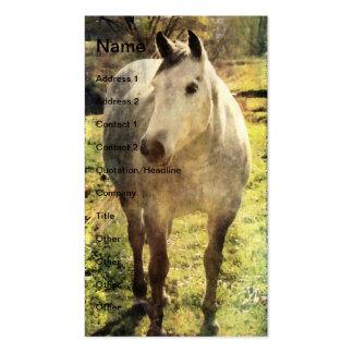 Caballo gris tarjetas de visita