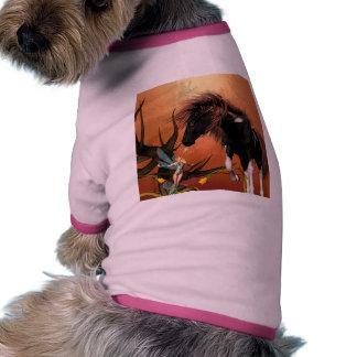 Caballo hermoso ropa de perros