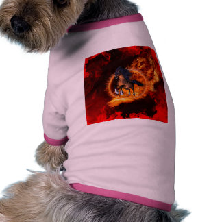 Caballo hermoso camiseta con mangas para perro
