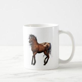 caballo hermoso taza de café