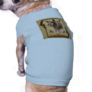 Caballo impresionante playera sin mangas para perro