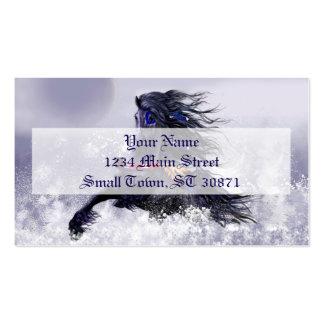 Caballo indio del semental majestuoso azul negro tarjetas de visita