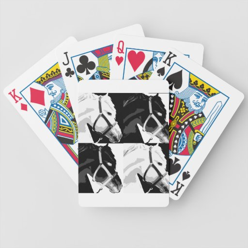caballo inusual barajas de cartas