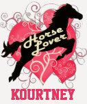 Caballo Kourtney personalizado amante Camisetas
