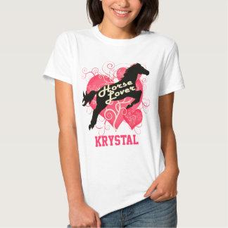 Caballo Krystal personalizado amante Poleras