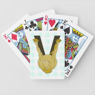 Caballo lindo del monograma V personalizado Baraja Cartas De Poker