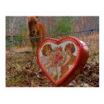 Caballo marrón miniatura del corazón de la tarjeta tarjetas postales