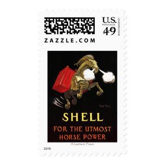 Caballo mecánico con Shell Oil Sello