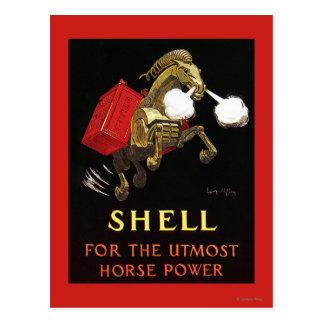 Caballo mecánico con Shell Oil Tarjeta Postal