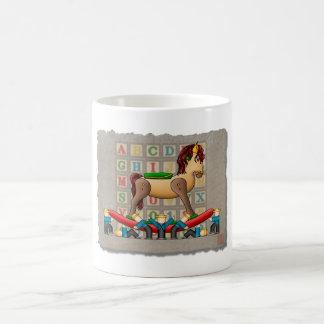 Caballo mecedora de Amish Taza De Café