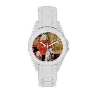 Caballo mecedora del día de Lucía Relojes De Mano