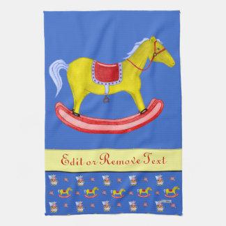 Caballo mecedora - juguetes tradicionales (colores toalla de mano