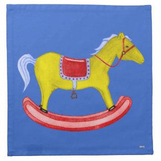 Caballo mecedora - juguetes tradicionales (colores servilleta imprimida