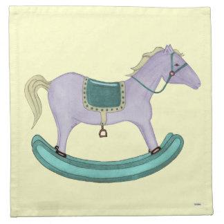 Caballo mecedora - juguetes tradicionales (en colo servilleta imprimida