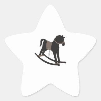 Caballo mecedora pegatinas forma de estrellaes