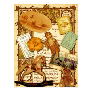 Caballo mecedora postal