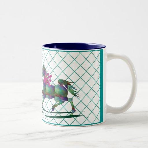 Caballo mecedora tazas de café