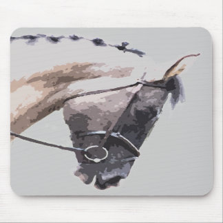 caballo melado azul de la pintura del pinto alfombrilla de raton