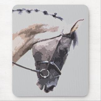 caballo melado azul de la pintura del pinto alfombrillas de raton
