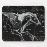 caballo místico hermoso impresionante de las alas  alfombrilla de raton