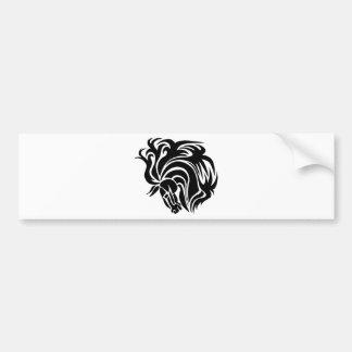 Caballo negro etiqueta de parachoque
