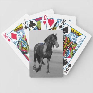 Caballo negro frisio del semental baraja de cartas