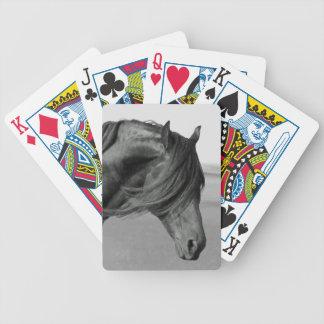 Caballo negro frisio del semental barajas de cartas