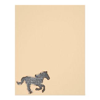 caballo negro membrete a diseño
