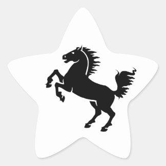 Caballo negro calcomania forma de estrella
