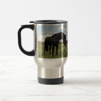 Caballo negro taza térmica