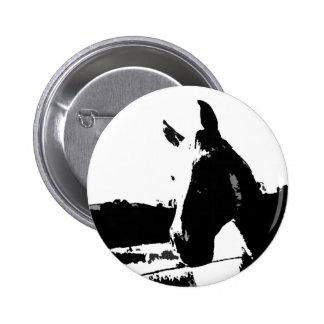 Caballo negro y blanco pin