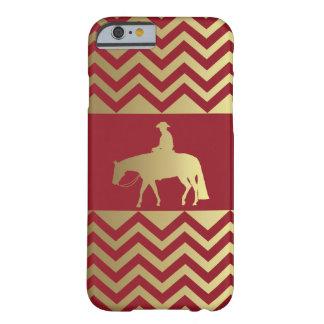 Caballo occidental de oro/de Burdeos del placer Funda Barely There iPhone 6