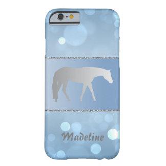 Caballo occidental de plata del placer en Brokeh Funda Barely There iPhone 6
