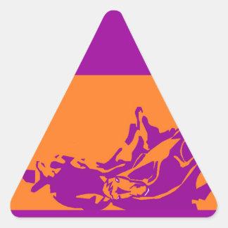 Caballo occidental del corte de la acción del pegatina triangular