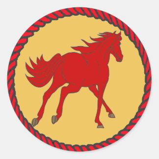 Caballo occidental del pegatina