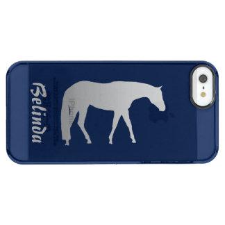 Caballo occidental del placer en cualquier color funda clear para iPhone SE/5/5s