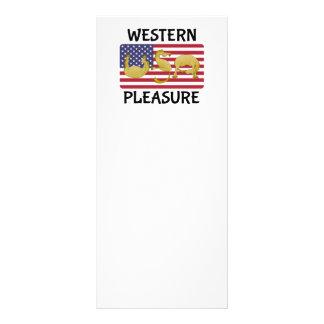Caballo occidental los E.E.U.U. del placer Lona Personalizada