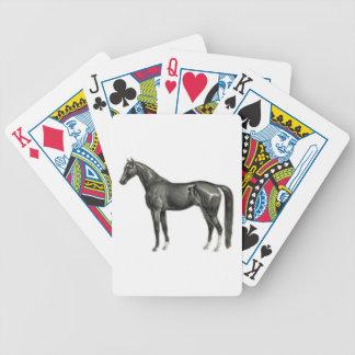 Caballo oscuro - ejemplo del caballo del vintage baraja de cartas