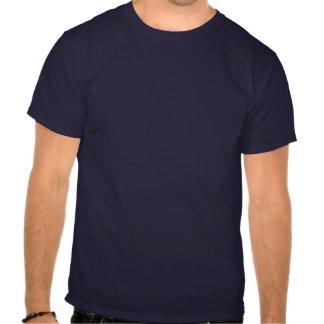 Caballo oscuro para hombre de las camisetas - roja