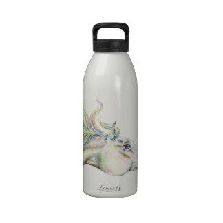 Caballo pacífico botella de agua reutilizable