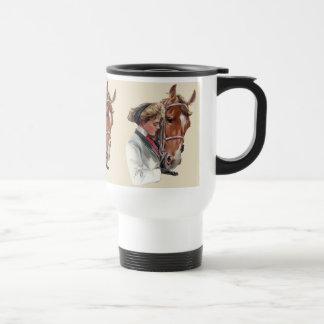 Caballo preferido taza de viaje de acero inoxidable