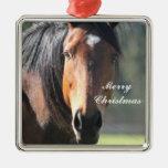 Caballo: Primer grande del caballo de Brown de la  Ornamento De Navidad