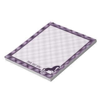 Caballo púrpura bloc de notas