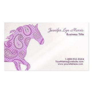 Caballo púrpura de Paisley Tarjetas De Visita