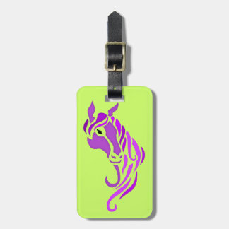 Caballo púrpura etiquetas bolsas