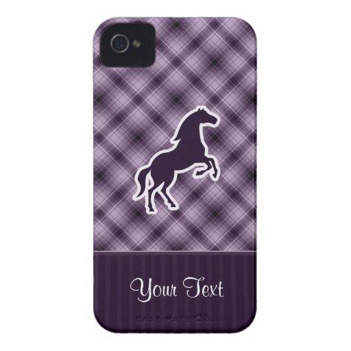 Caballo púrpura iPhone 4 coberturas