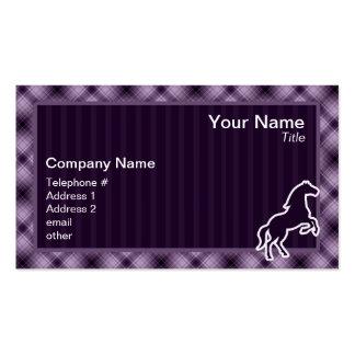 Caballo púrpura tarjetas de visita