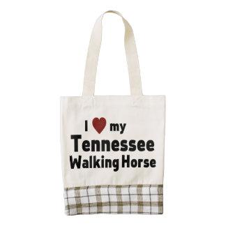 Caballo que camina de Tennessee Bolsa Tote Zazzle HEART