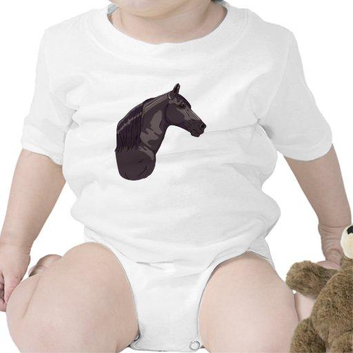 Caballo que camina negro de Tennessee Traje De Bebé